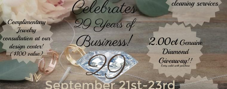 Dominic's Fine Jewelry 29th Anniversary