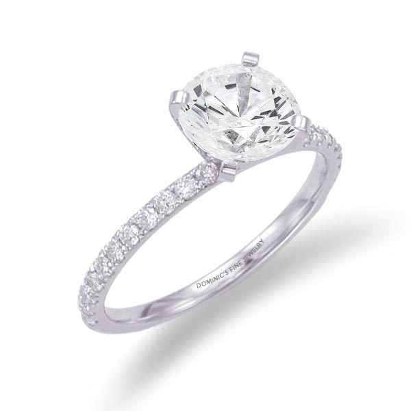 Ladies Simple Diamond Engagement Ring Dominic S Fine Jewelry