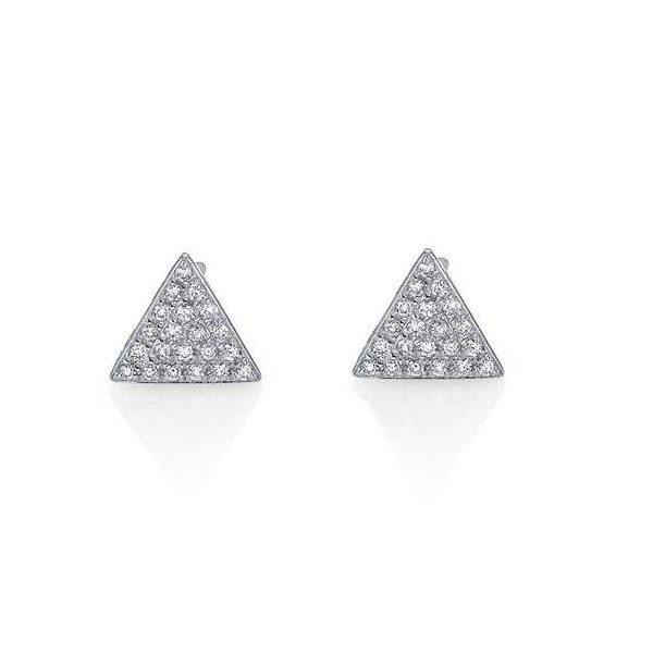 14k White Gold Triangle Diamond Earrings - Dominic s Fine Jewelry fddcf0c8c