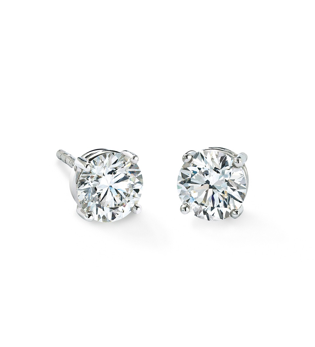 white htm carat w ct solid with diamond i stud p si h earrings diamonds gold