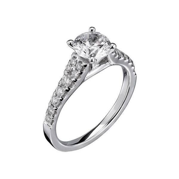 Ladies 14k White Scott Kay Luminaire Engagement Ring