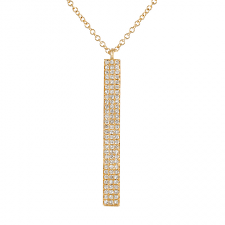 8386c86b17a0 14K Yellow Diamond Vertical Bar Necklace