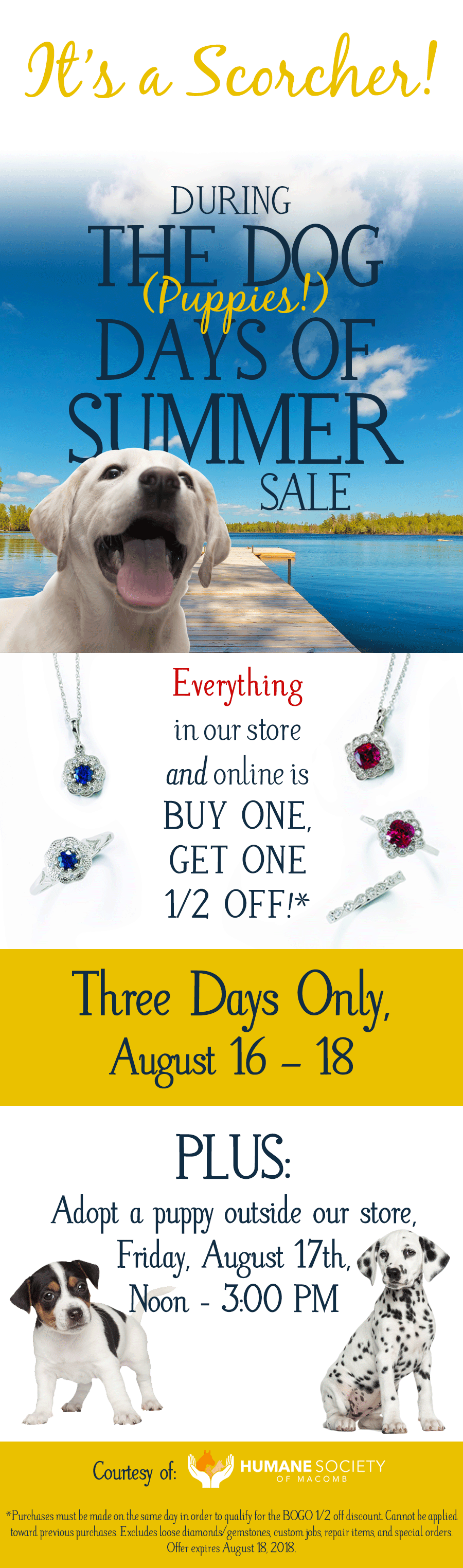 The Dog Days of Summer Jewelry Sale