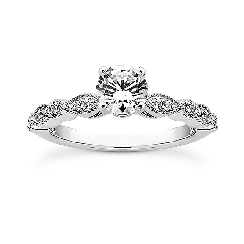 14k White Gold Unique Engagement Ring Dominic S Fine Jewelry